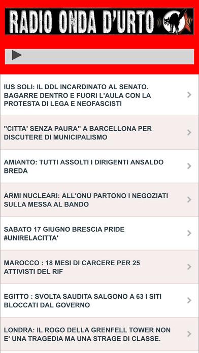 Radio Onda d'Urto screenshot
