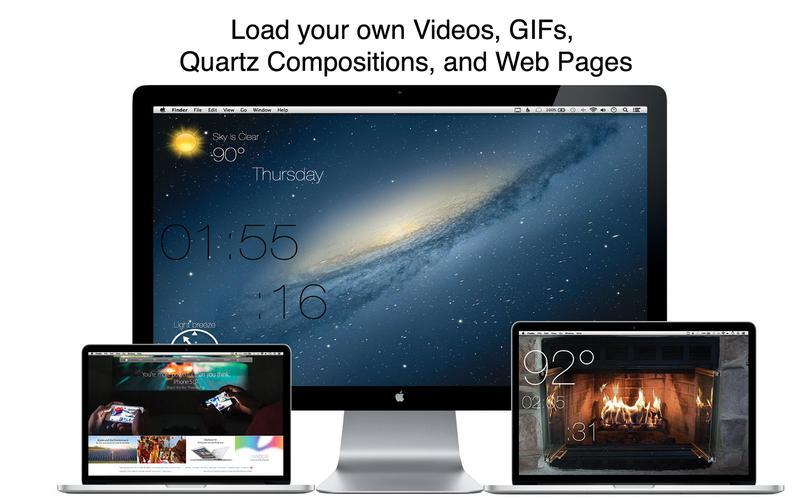 Mach Desktop - Video, GIF, Quartz, as Wallpaper Screenshots