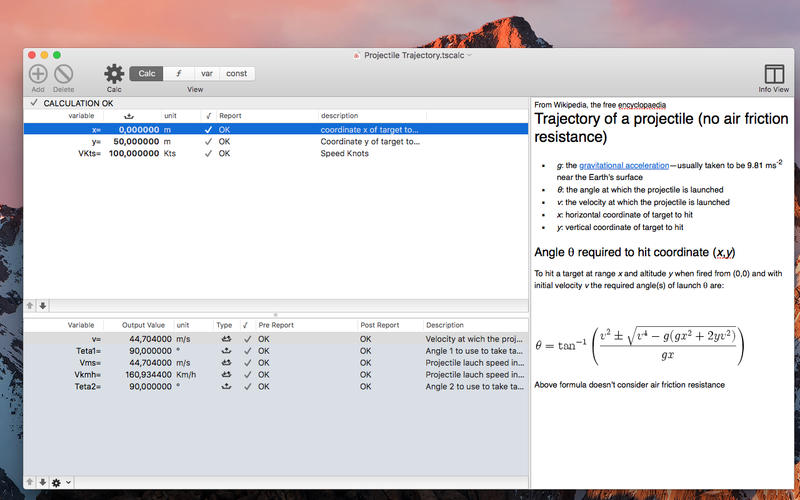 TS Calc for Mac