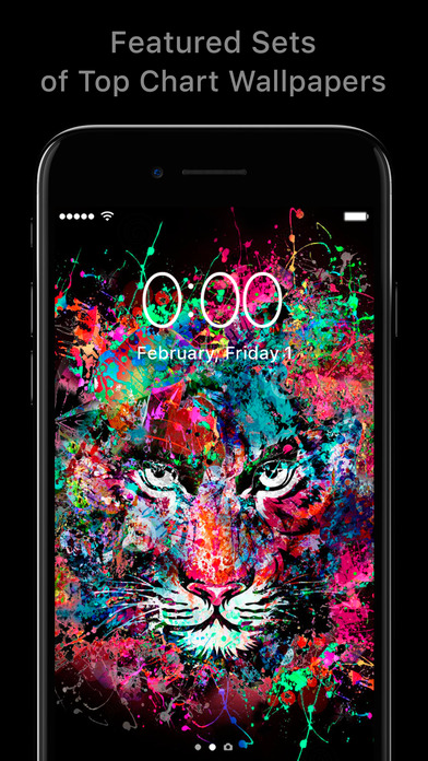 Screenshots of Featured of Wallpapers Cool Backgrounds and Themes for iPhone