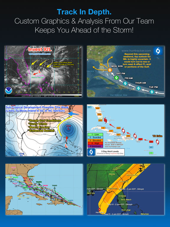 Screenshot #4 for Hurricane Tracker For iPad