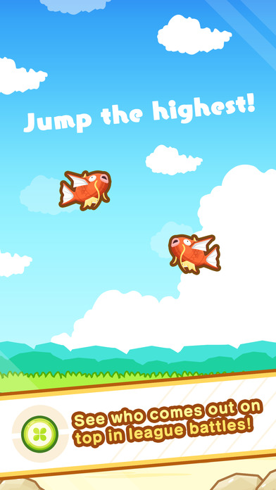 Screenshots of Pokémon: Magikarp Jump for iPhone