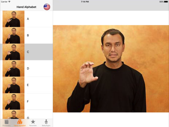 spread the sign the sign language dictionary on the app