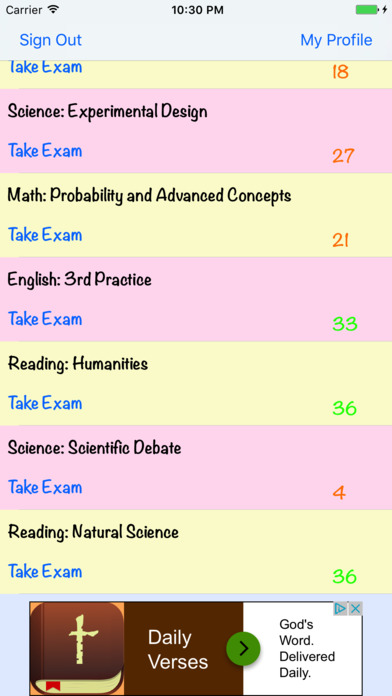 Screenshot #7 for ACTalented ACT Practice Tests