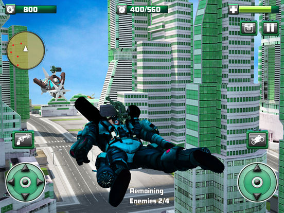 Flying Monster Hero Bike Transformation screenshot 10