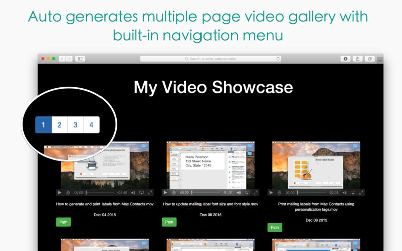 Responsive Video Grid for Mac 3.10 破解版 - 视频编辑管理