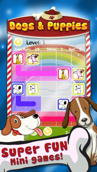 Connect Puzzle Dogs & Puppies Logic Games screenshot 2