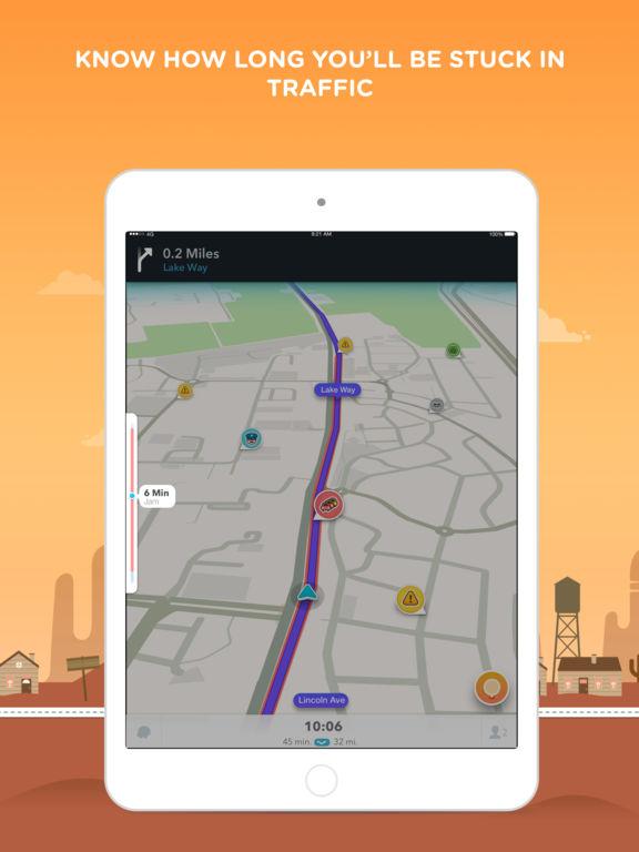 Waze - GPS Navigation, Maps & Real-time Traffic iPad