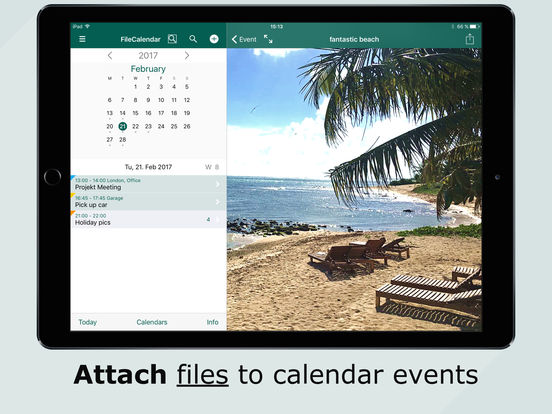 FileCalendar – Manage events & files, write notes Screenshots
