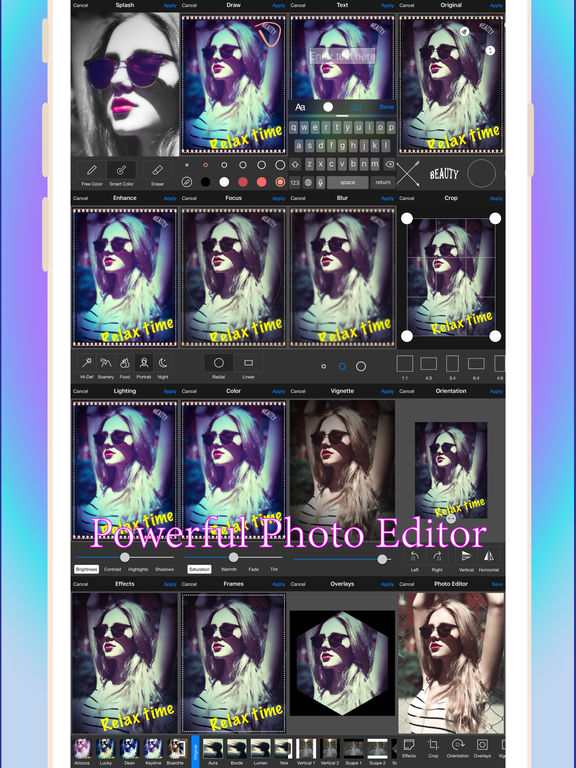 MM Cam+ : Manual & Mirror mode W Photo Editor Screenshots
