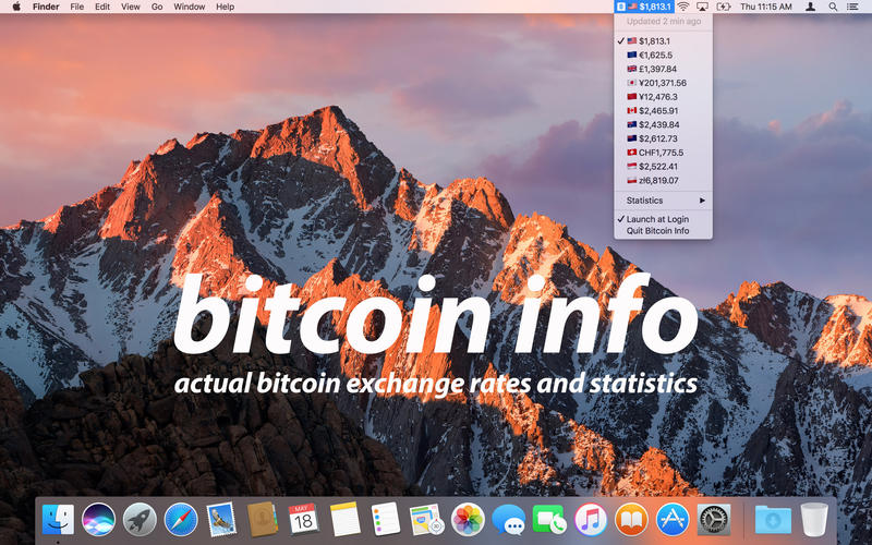 Bitcoin Info - Exchange Rates and Statistics for Mac