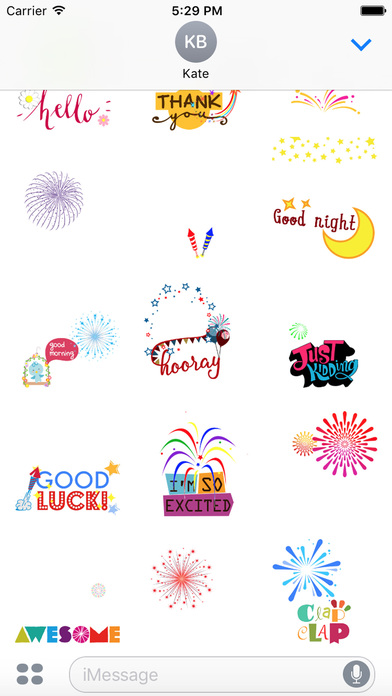 Colorful Firework Party Animated GIF screenshot 2