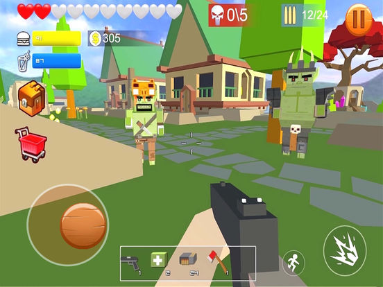 Pixel shooting zombie screenshot 6