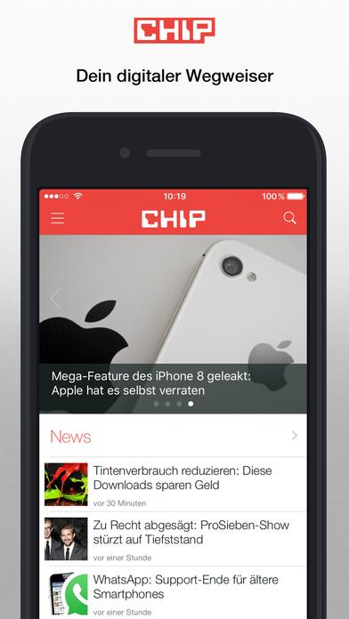 chip technik test berichte news bestenliste app report on mobile action. Black Bedroom Furniture Sets. Home Design Ideas