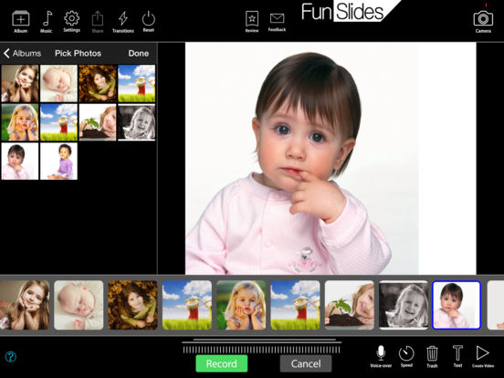 FunSlides HD - Make HD video from photos Screenshots