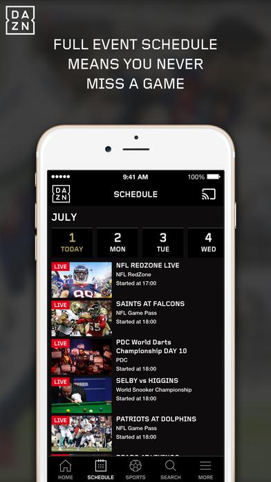 DAZN – watch sport live and on demand Screenshots
