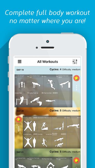 Calisthenics Challenge Trainer - Fitness Workout Screenshots