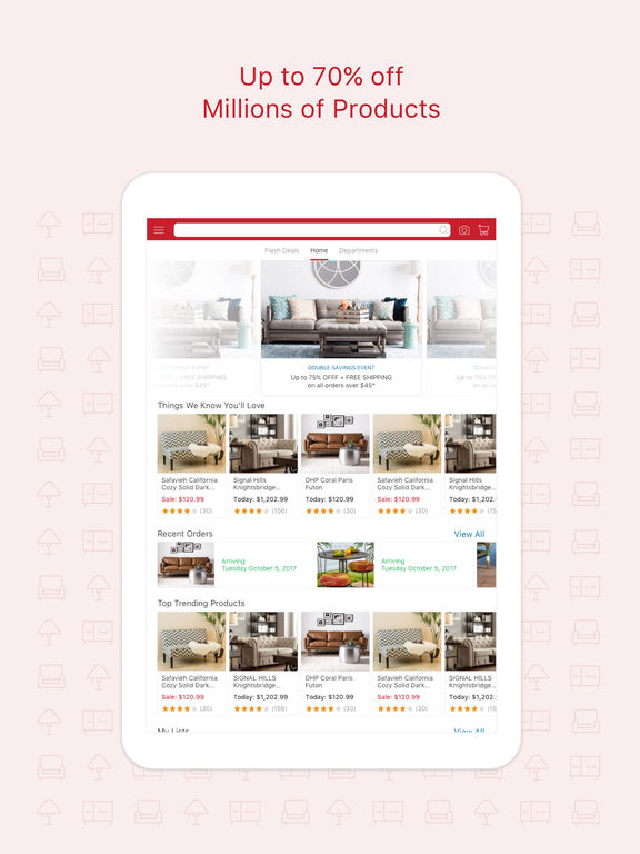 overstock furniture home d 233 cor daily sales on the overstock home decor furniture shopping apk mirror