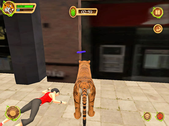 Wild Tiger Beast City Attack screenshot 7