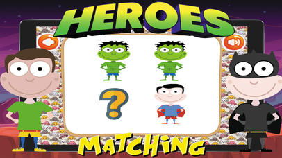 Super Heroes Card Matching screenshot 2