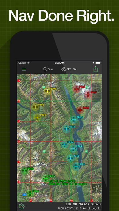 MilGPS - MGRS & USNG Grid GPS for Land Navigation Screenshot
