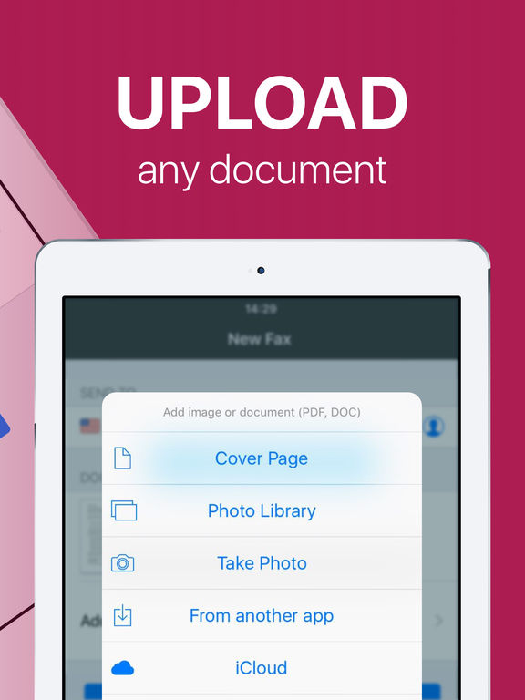 FAX app PRO: send fax from iPhone on the go Screenshots