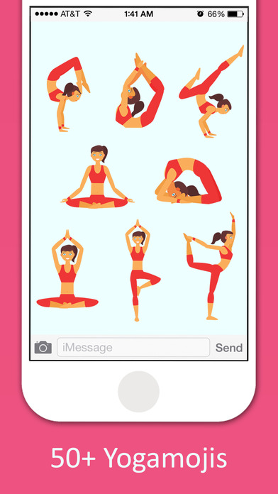 Yoga Sticker Pack - BodyBuilder,Meditation Sticker screenshot 2