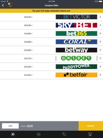 Football Coupon betting - best odds screenshot 4