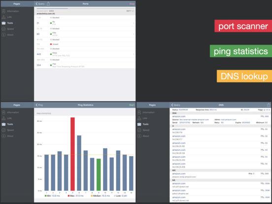 Network Analyzer - wifi scanner, speed test, tools Screenshots