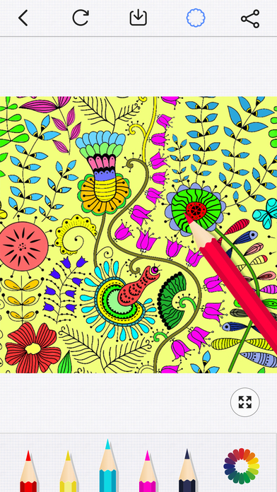 Therapy Coloring Pages for Adults - Free Anxiety Stress Relief Game & Secret Color Book Games free for iPhone/iPad screenshot