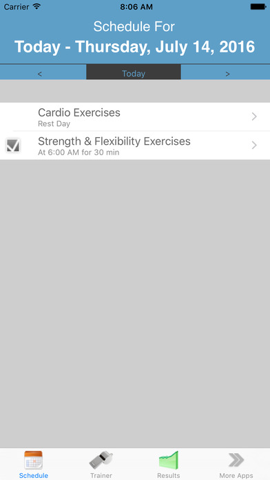 My Personal Trainer (w/ Reminders) Screenshots