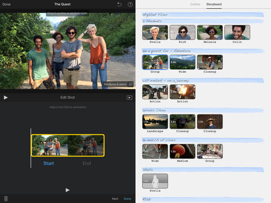 iMovie iPad Screenshot 3