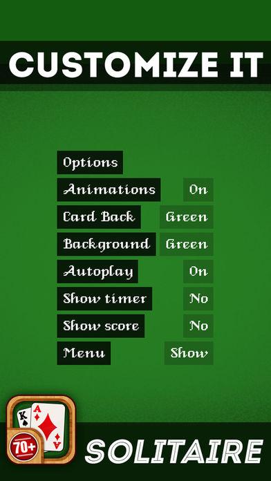 Screenshot 3 Solitaire 70+ игра Лучшие карточные игры бесплатно весело и употреблению игры