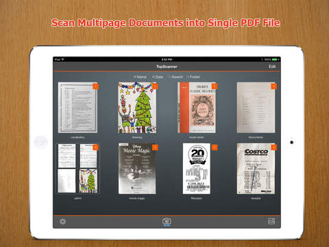 TopScanner : PDF Scanner to scan document, receipt, fax from photo library or camera Screenshots