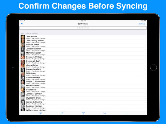 Contacts Sync With Groups For Gmail iPad Screenshot 2