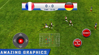 Screenshots of Play real soccer 2016 league cup - Top new free futsal and football games Euro France Germany Italy Spain Edition for iPhone