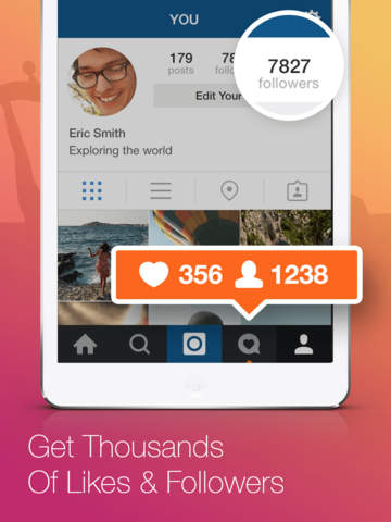 Screenshots of Follow4Follow - Get more views, followers and likes for Instagram for iPad