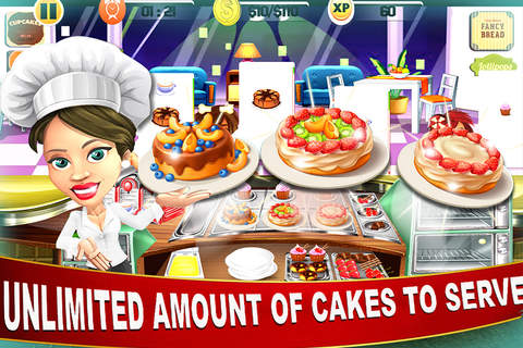 Bakery World Cooking Maker - Super-Star Chef Donut & Cup-Cake Kitchen Cafe Story Game screenshot 1