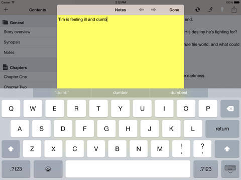 Writing App - Take Notes, Write your Novel or Short Story, be an Author and Writer Screenshots