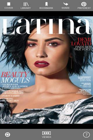 Latina Magazine Digital screen