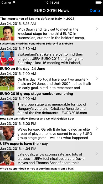 Euro Football: all the news, live scores and results in Europe iPhone Screenshot 2