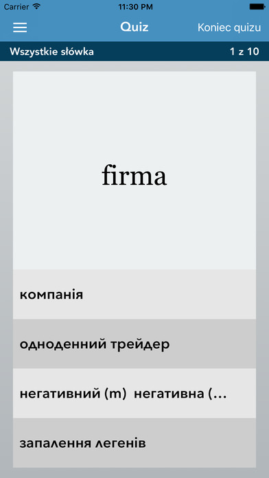 AccelaStudy® Polish | Ukrainian iPhone Screenshot 4