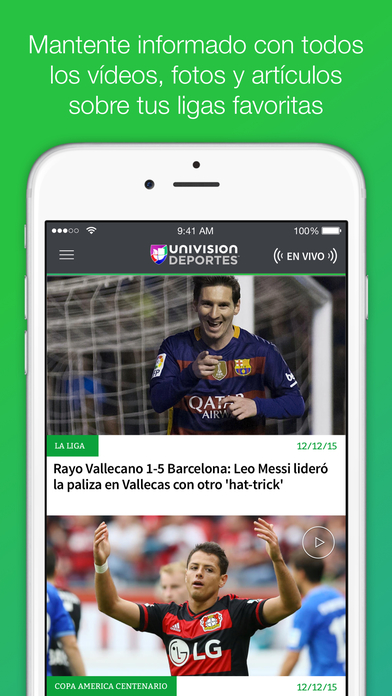 Univision Fútbol iPhone Screenshot 2