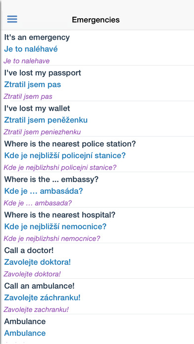 Czech Dictionary iPhone Screenshot 5