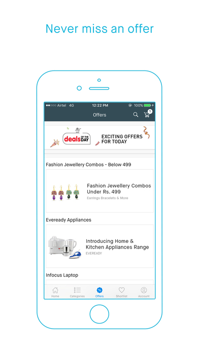 Screenshots of Snapdeal for iPhone