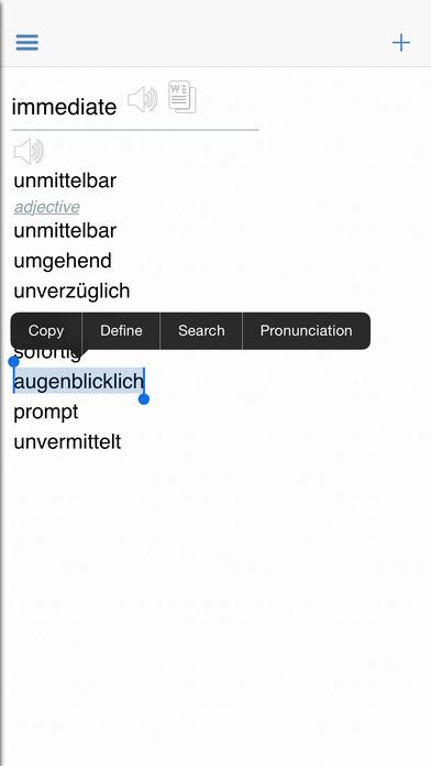 German Dictionary Pro Free iPhone Screenshot 3