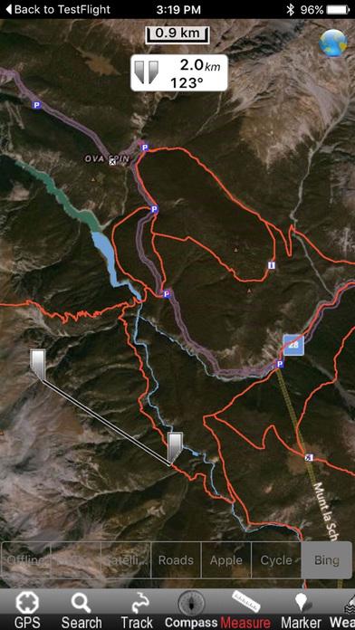 Schweizer National park - GPS Map Navigator iPhone Screenshot 1