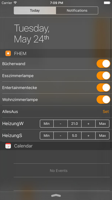 FHEM Widget Screenshots