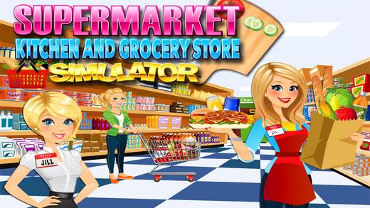 Supermarket Kitchen - Grocery Store, Food Maker & Cash Register ...