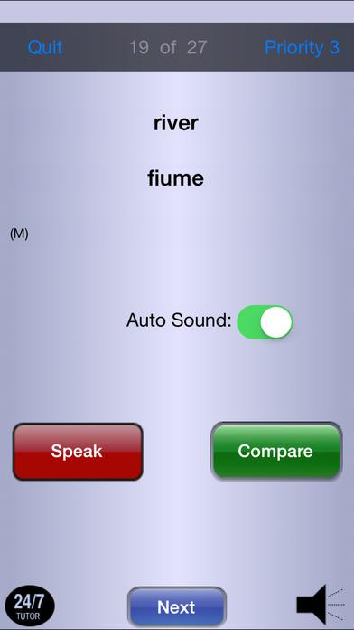 Italian 101 - Vocabulary iPhone Screenshot 5